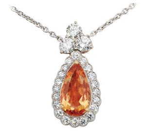 Incredible Five Carat Topaz Platinum Pendant
