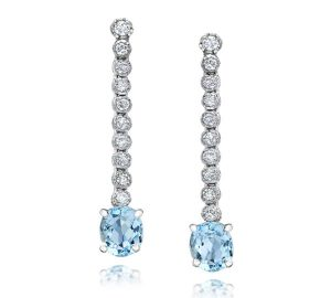 Aquarmaring and Diamond Dangles