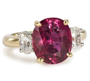 Stunning Ruby Ring Surrounded by Diamonds